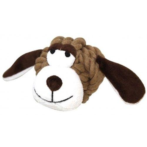Maskotka z piszczałką dla psa ze sznura bawełnianego