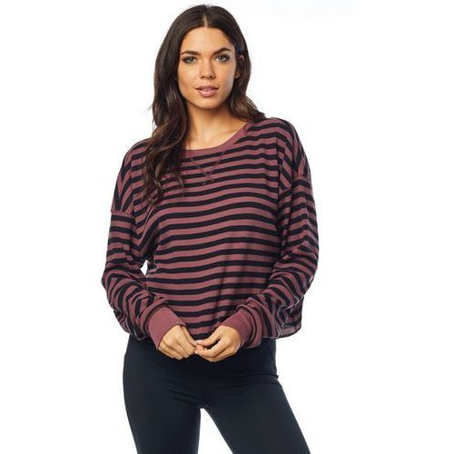 FOX T-shirt damski Striped Out Thermal Corp M burgund
