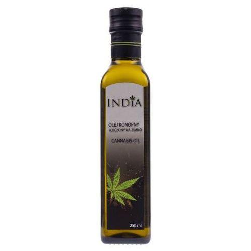 Olej Konopny z Pierwszego Tłoczenia na Zimno, 250 ml India Cosmetics (4820184310056)