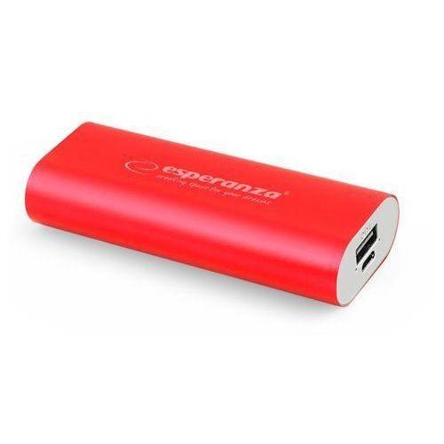 Ładowarka akumulator ESPERANZA POWER BANK HADRON 4400mAh - czerwony