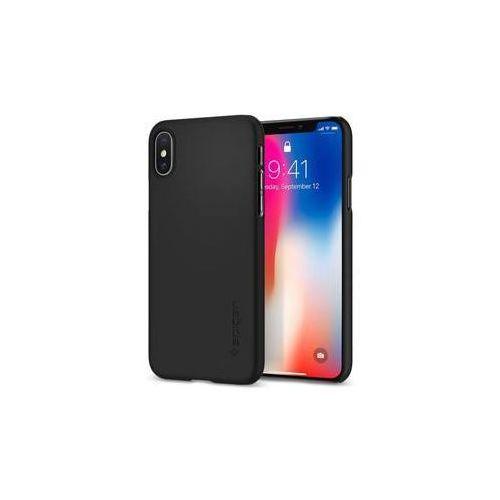 Obudowa dla telefonów komórkowych thin fit apple iphone x (houapipxspbk3) czarny marki Spigen
