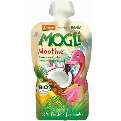 Mogli (moothie owocowe, batony, napoje) Moothie - przecier z guawą, ananasem i kokosem 100% owoców bez dodatku cukrów bio 100 g – mogli (4260311980811)