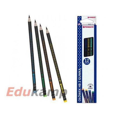 Ołówek trójkatny z gumka HB PENMATE Premium pudełko (5906910816500)