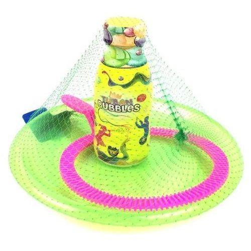 Zestaw  do baniek mydlanych podstawka,obręcz+250ml płynu marki Tuban