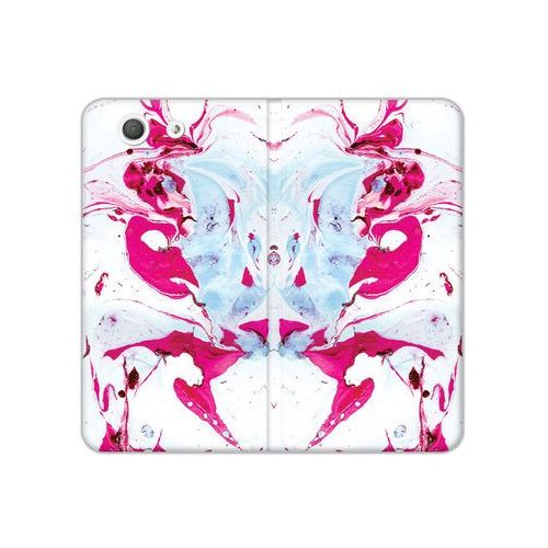 Sony Xperia Z3 Compact - etui na telefon Flex Book Fantastic - różowy marmur, ETSN133FBFCFB030000