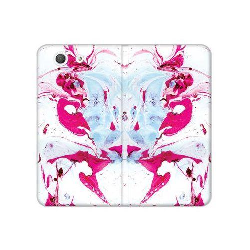 Sony Xperia Z3 Compact - etui na telefon Flex Book Fantastic - różowy marmur