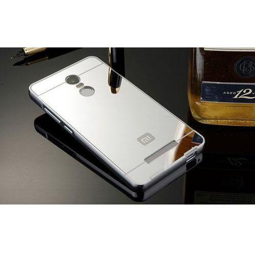 Mirror Bumper Metal Case Srebrny | Etui dla Xiaomi Redmi Note 3 (wersja azjatycka) - Srebrny
