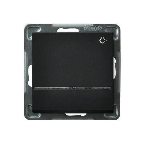 """Łącznik zwierny """"światło"""" z podświetleniem Czarny metalik - ŁP-5RS/m/33 Sonata (5907577446192)"""