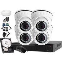 Zestaw 4 Kamery Monitoring: Rejestrator LV-XVR44S, 4x Kamera LV-AL25HDW-S, 500GB, akces