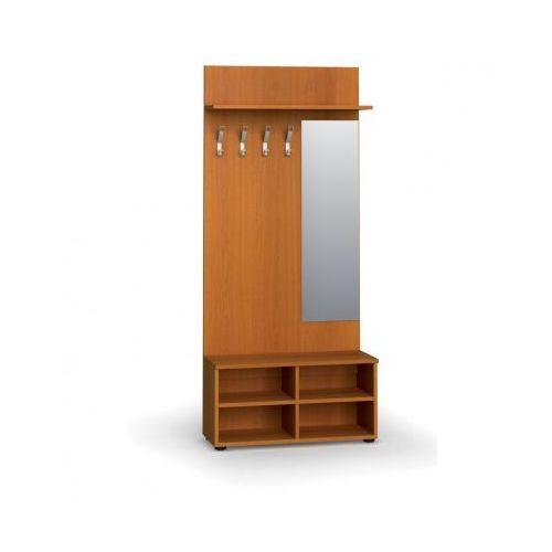 B2b partner Garderoba z półką na buty i lustrem, 4 haczyki, półka, czereśnia
