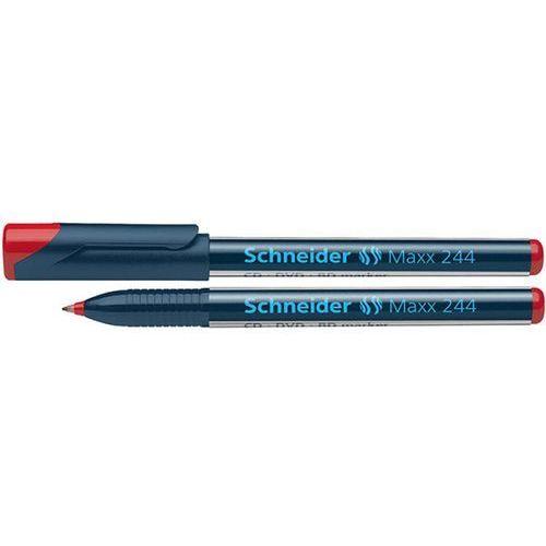 Schneider Marker do płyt cd/dvd maxx 244, 0,7 mm, czerwony (4004675013347)