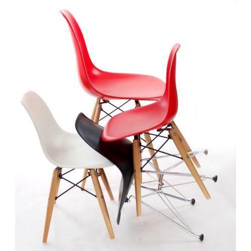 Krzesło JuniorP016 białe,drewniane nogi MODERN HOUSE bogata chata