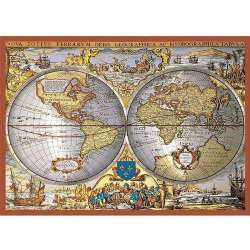 Piatnik Puzzle metalizowane mapa świata 1000 (9001890557743)