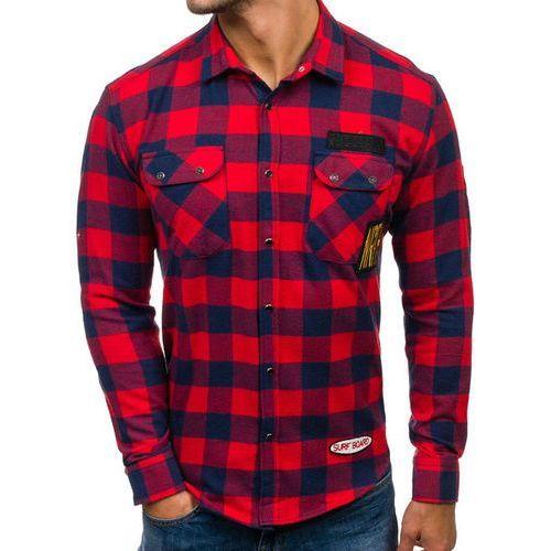 Northist Koszula męska flanelowa z długim rękawem czerwona denley 2503