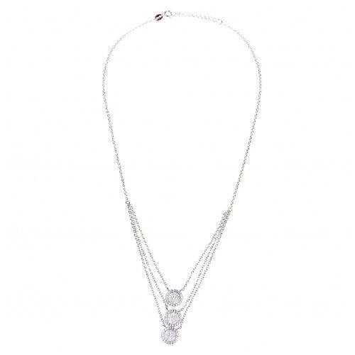 Biżuteria damska ze srebra SAXO Naszyjnik srebrny SŁ.060.01, kolor szary