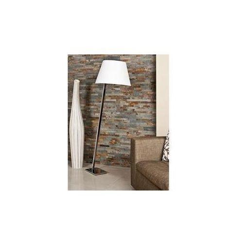 Maxlight Lampa podłogowa orlando chrom z białym abażurem, 5103f/wh