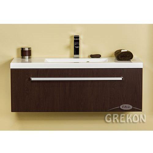 Szafka łazienkowa z umywalką 100/39 seria fokus wenge mat marki Gante
