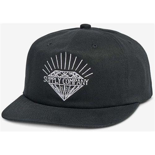 Czapka z daszkiem - split unstructured snapback black (blk) rozmiar: os marki Diamond