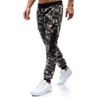 Spodnie męskie dresowe joggery moro-khaki denley 80598 marki Red fireball
