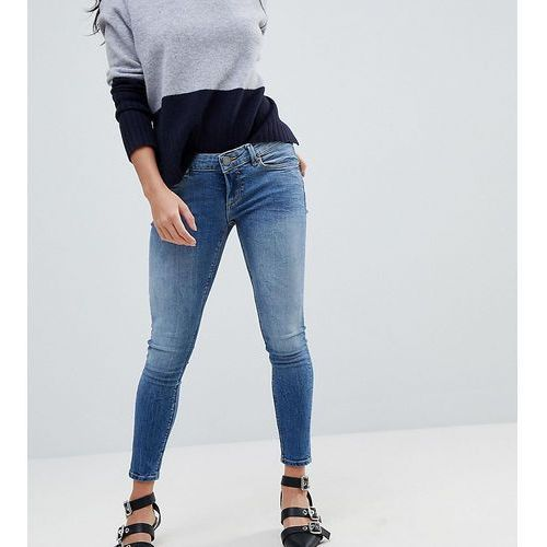 ASOS DESIGN Petite Whitby low rise skinny jeans in tatiana wash - Blue, jeans