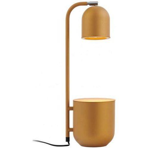 Biurkowa LAMPKA stołowa BOTANICA 40847114 Kaspa metalowa LAMPA stojąca doniczka regulowana dekoracyjna musztardowa