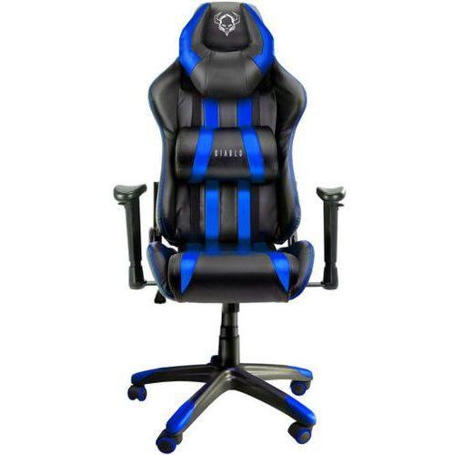 Fotel DIABLO CHAIRS X-One Czarno-niebieski