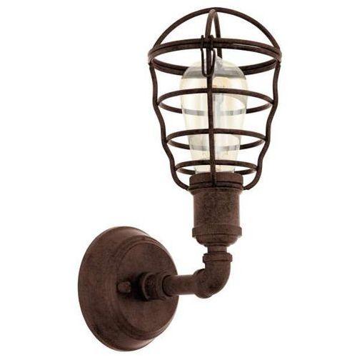 Industrialna LAMPA ścienna PORT SETON 49811 Eglo metalowa OPRAWA rury druciana klatka brąz
