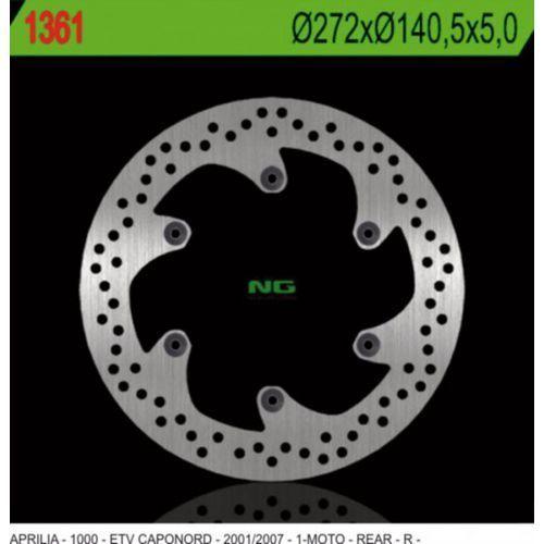 1361 tarcza hamulcowa aprilia etv 1000 caponord (01-07) (272x140,5x5) (6x8,5mm) marki Ng