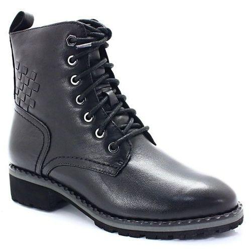 Caprice 9-26210-21 czarne - rasowe workery - czarny