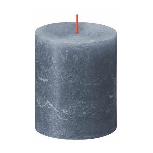 Świeca pieńkowa Rustic Shine ciemnoniebieska wys. 8 cm Bolsius