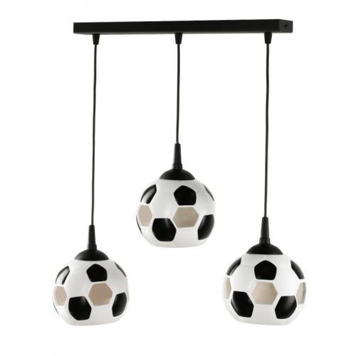 LAMPA wisząca LAMP 651/3L metalowa OPRAWA listwa ZWIS do pokoju dziecka piłka nożna kule balls białe czarne, LAMP 651/3L