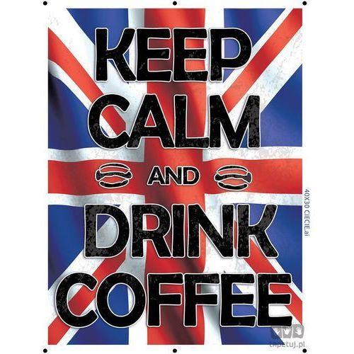 Consalnet Obraz keep calm and drink coffee - flaga brytyjska pt161t2