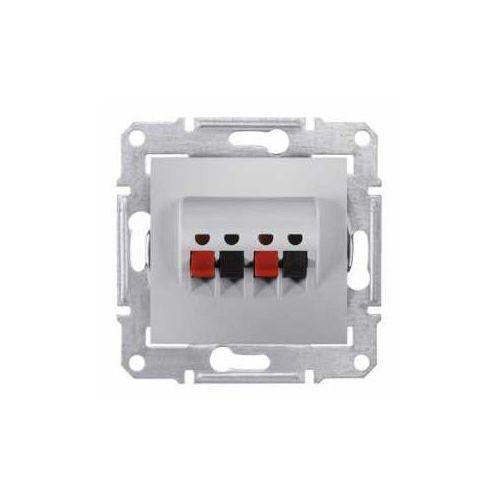 Gniazdo głośnikowe Schneider Sedna SDN5400160 podwójne aluminium (8690495036411)