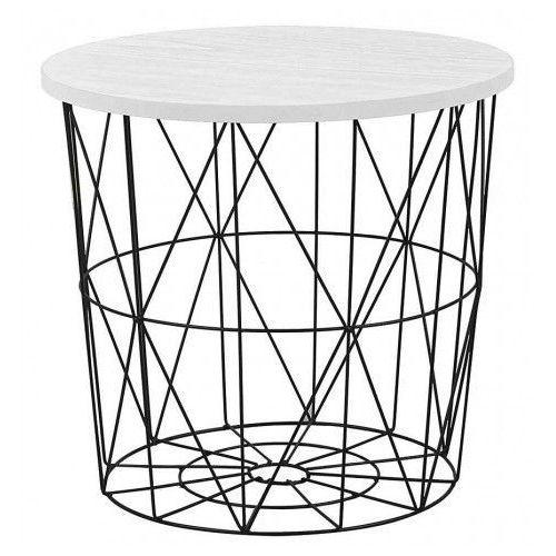 Okrągły stolik kawowy Rista - biały + czarny, V-CH-MARIFFA-LAW-CZARNY/BIAŁY