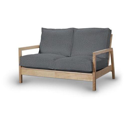 pokrowiec na sofę lillberg 2-osobową nierozkładaną, szary z jasną nitką, sofa lillberg 2-osobowa, living marki Dekoria