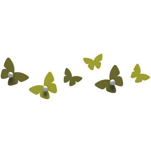 Wieszaczki ścienne millions of butterflies oliwkowo-zielone (50-13-2-54) marki Calleadesign
