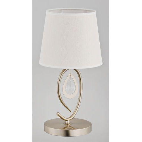 Lampa stołowa Alfa Izyda 22058 1x40W E14 biała, złota patyna.