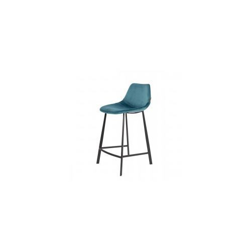 Krzesło barowe franky velvet niebieskie - dutchbon marki Dutchbone