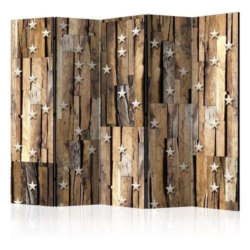 Parawan 5-częściowy - drewniany gwiazdozbiór ii [room dividers] marki Artgeist
