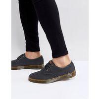 delray 3-eye shoes in heavy canvas - black marki Dr martens