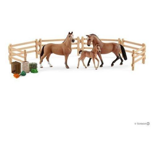 Schleich Rodzina koni hanower na pastwisku -