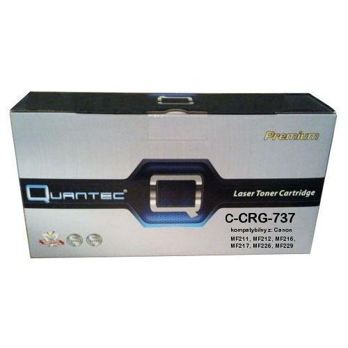 Zastępczy toner canon [crg-737] black 100% nowy marki Quantec