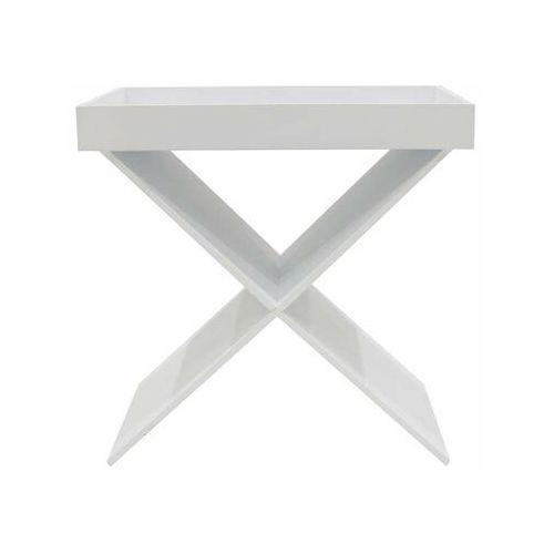 Intesi Stolik hyllan biały ze zdejmowaną tacą - biały (5902385745024)