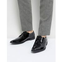 Frank Wright Derby Shoes In Patent Leather - Black, kolor czarny