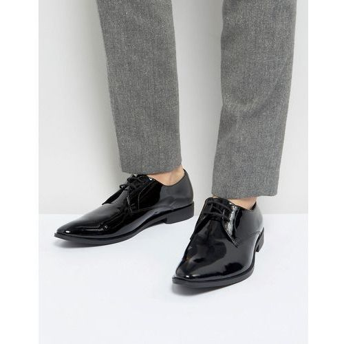 derby shoes in patent leather - black, Frank wright