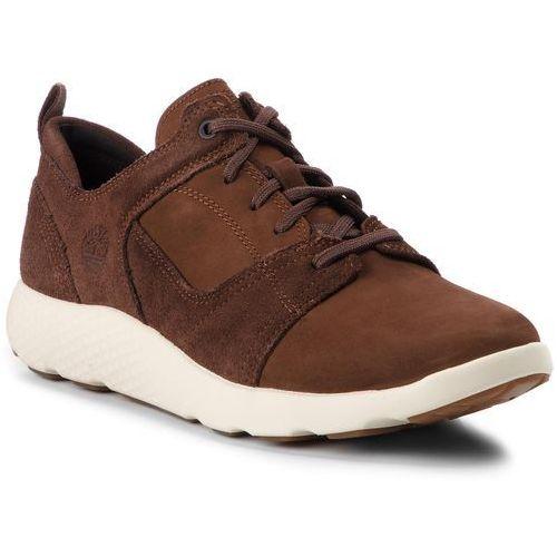 Sneakersy TIMBERLAND - Flyroam Leather Oxford A1SAP Potting Soil, kolor brązowy