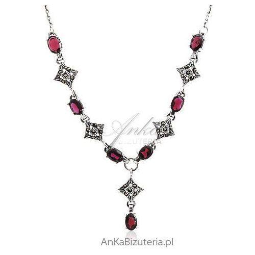 Biżuteria Komplet srebrny 3w1 Granaty oraz markazytami sensualna kobiecość