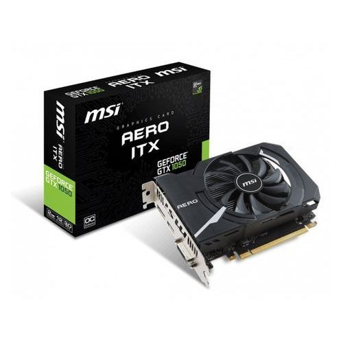 Karta graficzna MSI GTX1050 Aero ITX 2G OC 2GB, GDDR5 (128 bit), HDMI, DP, DVI-D (V809-2455R) Darmowy odbiór w 21 miastach!, V809-2455R