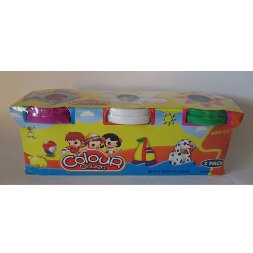 Colour Dough - Masa plastyczna 3 kolory - MEGA CREATIVE (5902012747520)