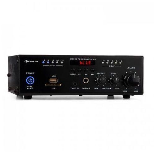 Auna amp4 bt miniwzmacniacz stereo bluetooth pilot czarny